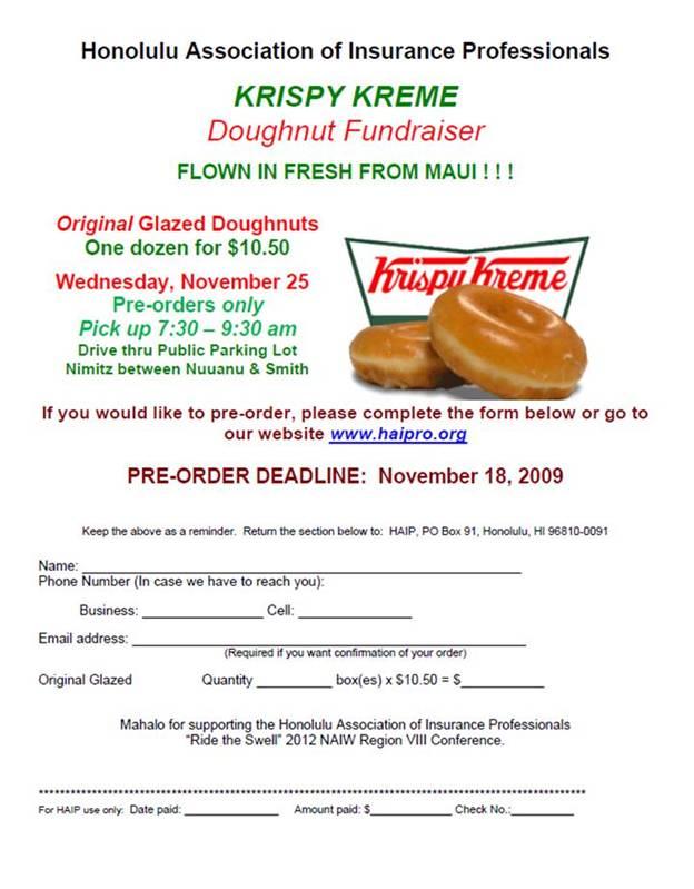 "Support ""Ride The Swell 2012″…Krispy Kreme Fundraising! | Aloha Notes"